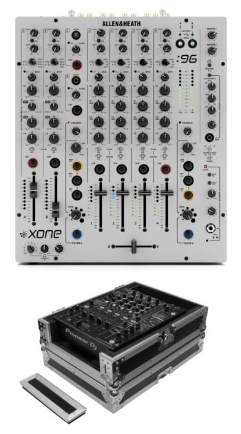 Allen & Heath Xone:96 + Odyssey FZ12MIXXD Case Bundle