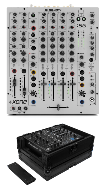 Allen & Heath Xone:96 + Odyssey FZ12MIXXDBL Case Bundle