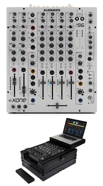 Allen & Heath Xone:96 + Odyssey FZGS12MX1XDBL Case Bundle