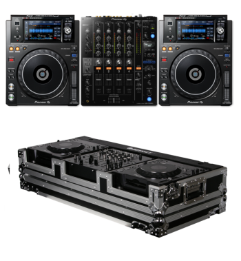 Pioneer DJ DJM-750MK2 + XDJ-1000MK2 And Odyssey FZ12CDJW Coffin Bundle