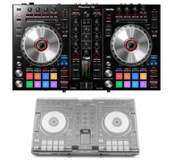 Pioneer DJ DDJ-SR2 + Decksaver DS-PC-DDJSR2DDJRR Cover Bundle