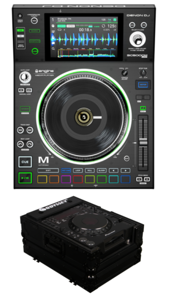 Denon DJ SC5000M Player + Odyssey FZCDJBL Case Bundle