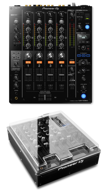 Pioneer DJ DJM-750MK2 + Decksaver DS-PC-DJM750MK2 Cover Bundle