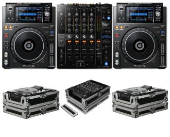 Pioneer DJ DJM-750MK2 + XDJ-1000MK2 + Odyssey FZCDJ and FZ12MIXXD Case Bundle