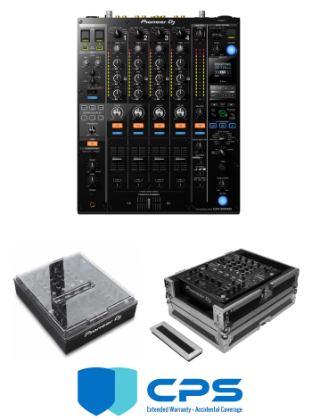 "Pioneer DJ DJM-900 NXS2 ""PROtection"" Bundle With Odyssey FZ12MIXXD, Decksaver Cover And 2 Year Accidental Coverage Warranty"