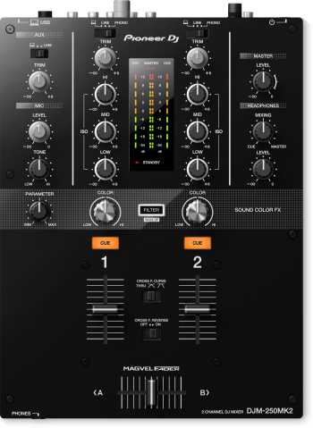 Pioneer DJM-250MK2 - 2-Channel Scratch Mixer With Rekordbox DJ and Rekordbox DVS