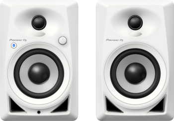 Pioneer DM-40BT-W - Bluetooth Monitor Speakers (Pair, White)