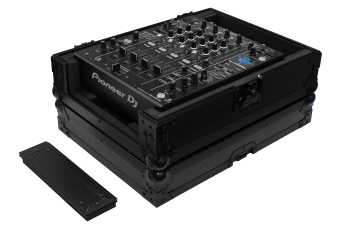 """Odyssey FZ12MIXXDBL - All Black Universal 12"""" Format DJ Mixer Case Pro-Duty With Extra Deep Rear Cable Space"""