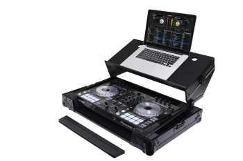 Odyssey FZGSADDJSR2BL - Pioneer DDJ-RR/SR/SR2 DJ Controller Case With 'Angled' Glide Platform