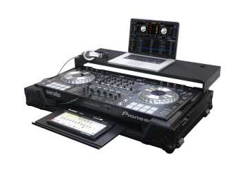 Odyssey FZGSPIDDJSZGTBL - Pioneer DDJ-SZ / DDJ-RZ All Black Label Gliding Platform Flight Case