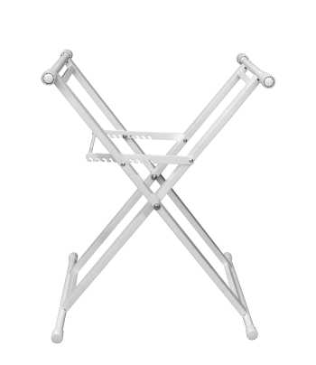 Odyssey LTBXSWHT - Heavy-Duty Double Braced Luxe Series White X-Stand