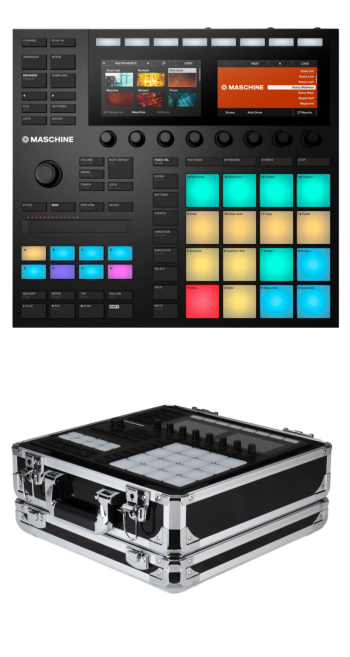 Native Instruments Maschine MK3 + Odyssey KMASCHINEMK3BLK Case Bundle