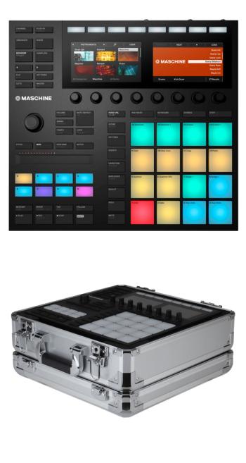 Native Instruments Maschine MK3 + Odyssey KMASCHINEMK3SIL Case Bundle