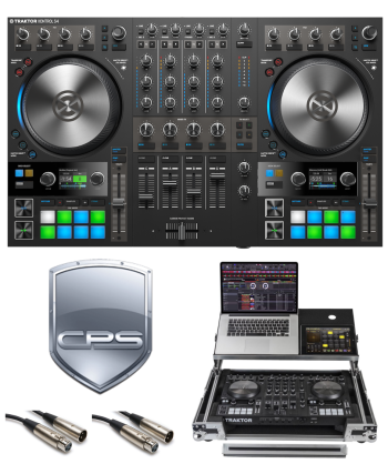 "Native Instruments Traktor Kontrol S4 MK3 ""PROtection"" Bundle with Case, Cables and 2 Year Accidental Warranty"