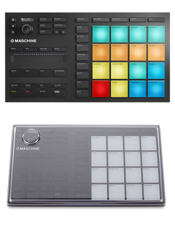 Native Instruments Maschine Mikro MK3 + Decksaver DS-PC-MIKROMK3 Cover Bundle