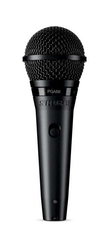 Shure PGA58-XLR Cardioid Dynamic Vocal Microphone With XLR-XLR Cable - $6 Temporary Price Drop