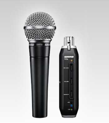 Shure SM58-X2u USB Digital Bundle - $10 Rebate