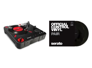 "Numark PT01 Scratch + Serato 7"" Control Vinyl Bundle Deal"