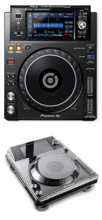 Pioneer XDJ-1000MK2 + Decksaver DS-PC-XDJ1000 Cover Bundle