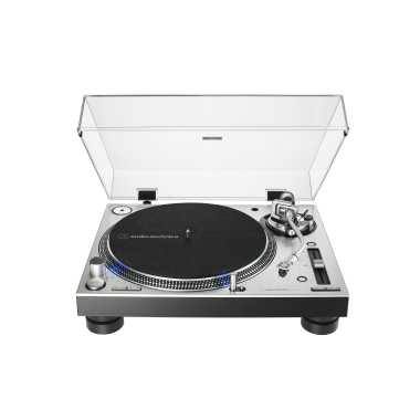 Audio-Technica AT-LP140XP - Direct-Drive Professional DJ Turntable (Silver)
