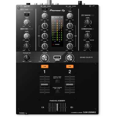 Pioneer DJ DJM-250MK2 - 2-Channel Scratch Mixer With Rekordbox DJ and Rekordbox DVS