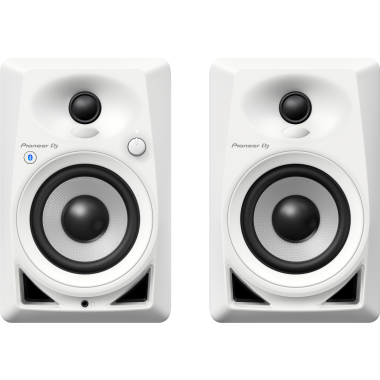 Pioneer DJ DM-40BT-W - Bluetooth Monitor Speakers (Pair, White)