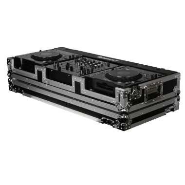 "Odyssey FZ12CDJW - 12"" Format DJ Mixer and 2 Large Format Media Player Universal With Wheels DJ Coffin Case"