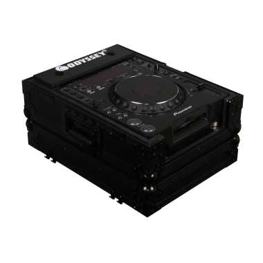 Odyssey FZCDJBL - Large Format CD Player All Black Flight Case