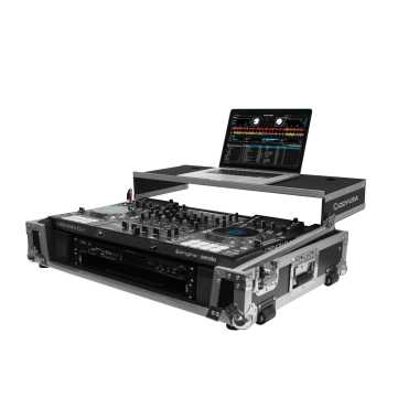 "Odyssey FZGSMCX8000W2 - Denon MCX8000 DJ Flight Case With Gliding Platform and 19"" 2U Rack Space"
