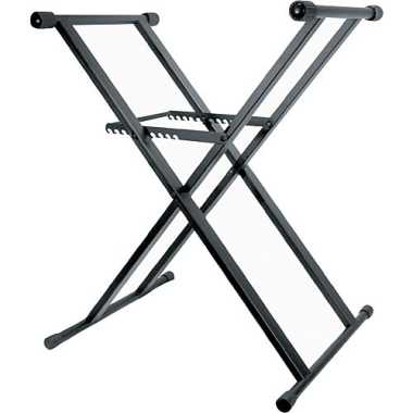 Odyssey LTBXS - Heavy-Duty Double Braced Black X-Stand