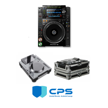 "Pioneer DJ CDJ-2000 NXS2 ""PROtection"" Bundle With Odyssey FZCDJ, Decksaver Cover And 2 Year Accidental Coverage Warranty"