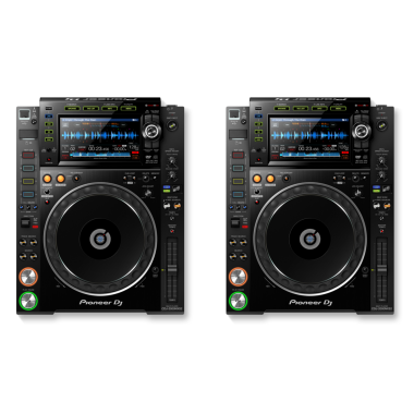 Pioneer DJ CDJ-2000 NXS2 Bundle (Pair)