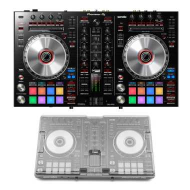 Pioneer DDJ-SR2 + Decksaver DS-PC-DDJSR2DDJRR Cover Bundle