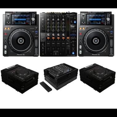Pioneer DJ DJM-750MK2 + XDJ-1000MK2 + Odyssey FZCDJBL and FZ12MIXXDBL Case Bundle