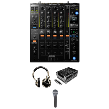 Pioneer DJM-900 NXS2 Gig Ready Bundle With Case, Headphones and Microphone