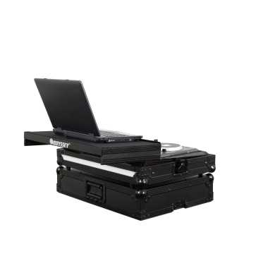 Odyssey FFXGSTKS4BL Flight Case For Traktor Kontrol S4/S4 MK2 With Gliding Tray and FX LED Panel