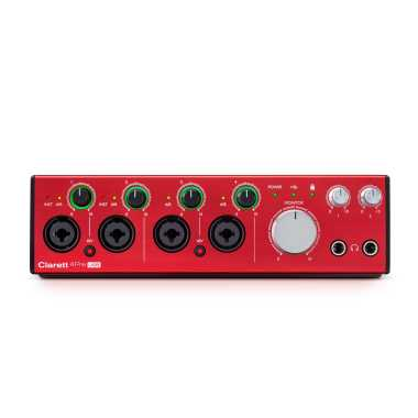 Focusrite Clarett 4Pre USB - 18-In, 8-Out Audio Interface