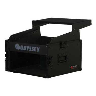 Odyssey FRGS806BL -All Black Gliding Platform Combo Rack Flight Case