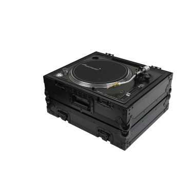 Odyssey FZ1200BL - All Black Technics 1200 Style DJ Turntable Flight Case