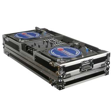 "Odyssey FZBM10W - 10"" Mixer + 2 Turntables In Battle Mode Flight Case"