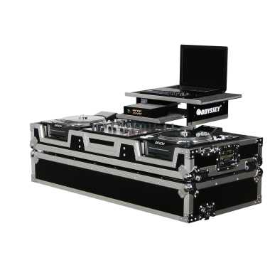 "Odyssey FZGS12CDJW - 12"" Mixer and 2 Large Format CD Player Gliding Platform Coffin"