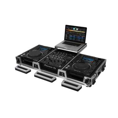 "Odyssey FZGSL12CDJWR - 12"" DJ Mixer & 2x Large Format Tabletop Players Coffin"