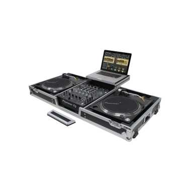 "Odyssey FZGSLBM12WR - 12"" DJ Mixer & 2x Turntables in Battle Position Rolling Coffin"