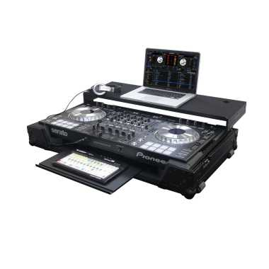 Odyssey Black Label™ Glide Style™ case with lower GT™ glide tray for Pioneer DDJ-SZ and DDJ-RZ - FZGSPIDDJSZGTBL