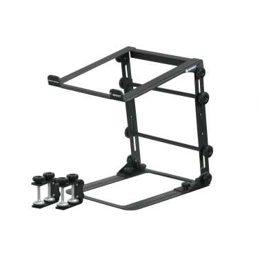 Odyssey Mobile Folding L-Stand with Table, Case Clamps - LSTANDM
