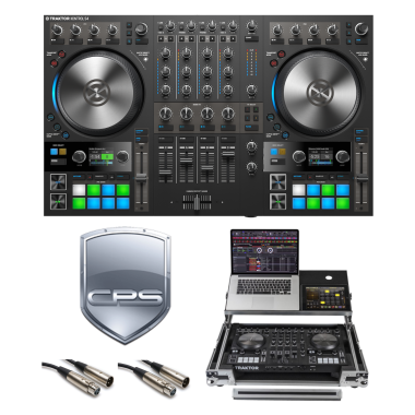 """Native Instruments Traktor Kontrol S4 MK3 """"PROtection"""" Bundle with Case, Cables and 2 Year Accidental Warranty"""
