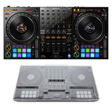 Pioneer DJ DDJ-1000 + Decksaver DS-PC-DDJ1000 Cover Bundle
