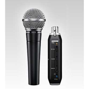 Shure SM58-X2u - USB Digital Bundle