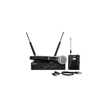 Shure QLXD124/85 - Handheld and Lavalier Combo Wireless Microphone System