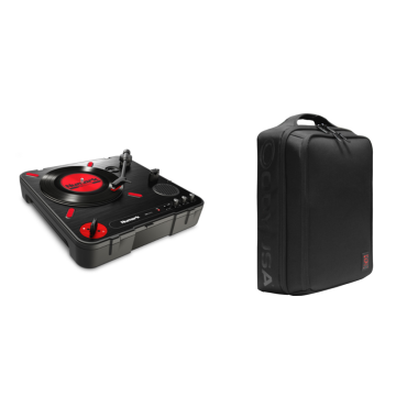"Numark PT01 Scratch ""Roadwarrior"" Bundle with Odyssey BRXMK2BP10 Backback"